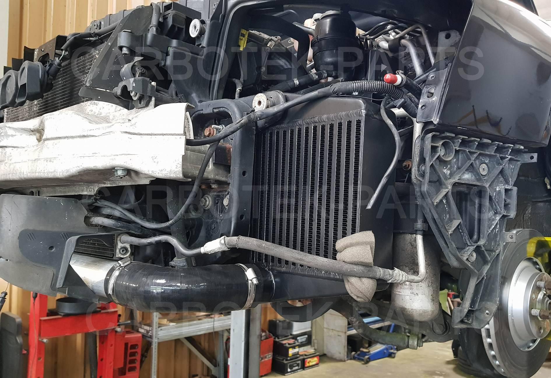carbotek-performance - ladeluftkühler, 200 zeller kat, downpipe